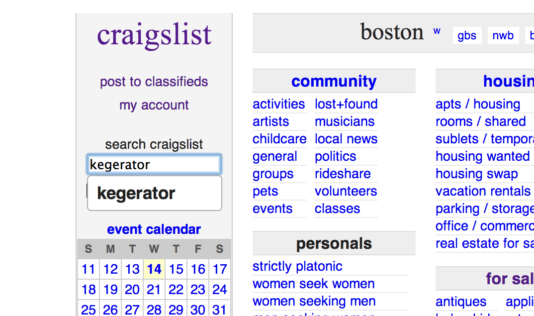 Craigslist Closeup